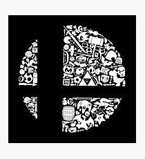 Super Smash Bros. Logo Photographic Print