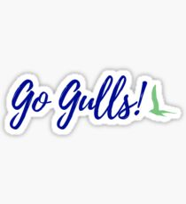 Endicott College Go Gulls! - Navy Sticker