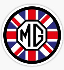 Round union jack sticker Sticker