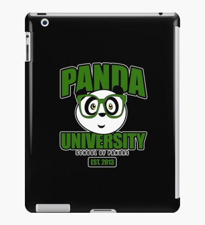 Panda University - Green 2 iPad Case/Skin