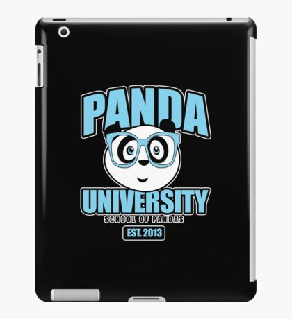 Panda University - Blue 2 iPad Case/Skin