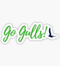 Endicott College Go Gulls! - Green Sticker