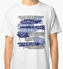 Friends From Other Ends - Blue and Silver Theme Classic T-Shirt