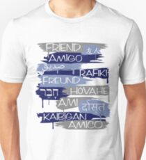 Friends From Other Ends - Blue and Silver Theme Unisex T-Shirt