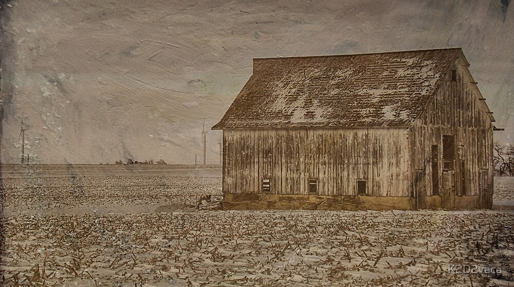 Just another corn crib... by K2D2vaca