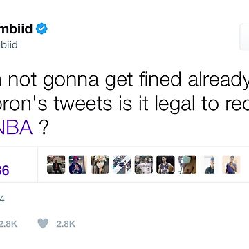 Joel Embiid - Recruiting LeBron James by TeeTweets
