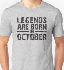 LEGENDS ARE BORN IN OCTOBER VINTAGE T-Shirt