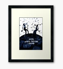 Let's be weird & awkward together  Framed Print