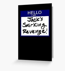 "Fight Club- ""I AM JACK'S SMIRKING REVENGE"" Greeting Card"