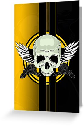 Wing Skull - YELLOW by Adam Santana
