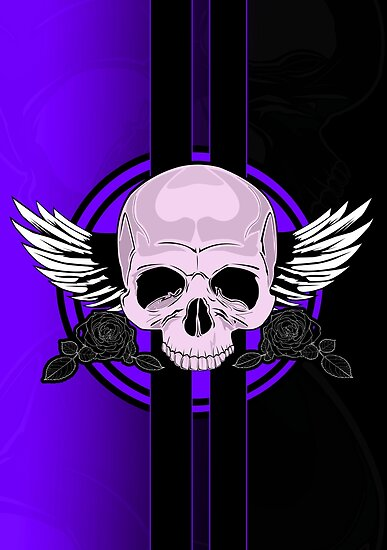 Wing Skull - PURPLE by Adam Santana