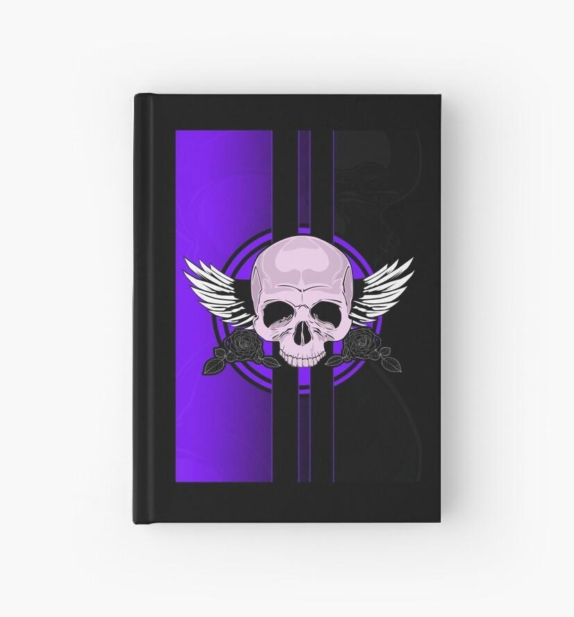 Wing Skull - PURPLE by Adam Santana