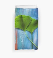 Two leaves of Ginkgo Duvet Cover