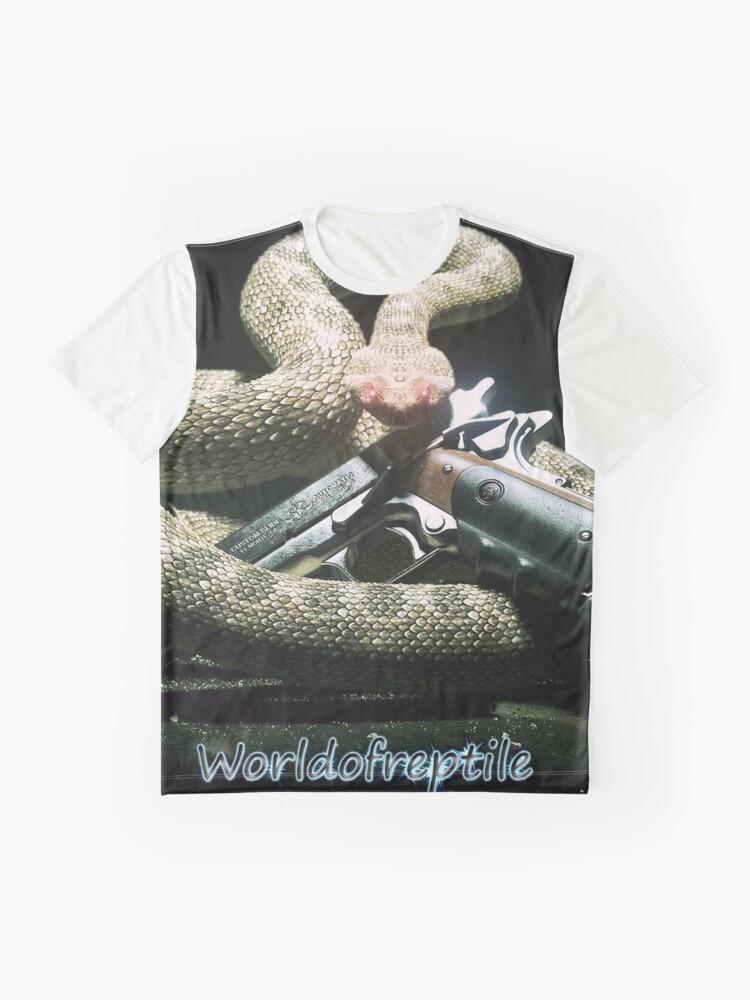 T-shirt graphique ''SnakeOneBlack': autre vue