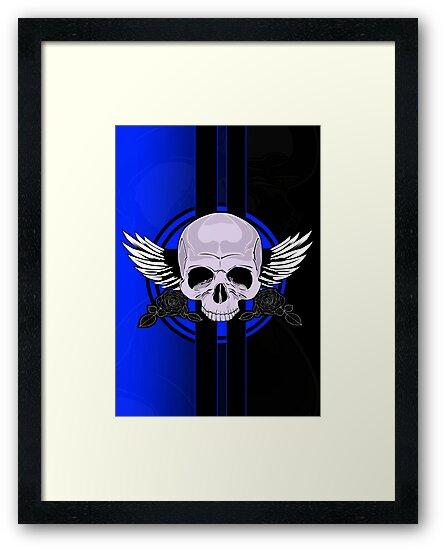 Wing Skull - BLUE by Adam Santana