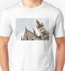 Marvelous Munich - Altes Rathaus Old Town Hall Against the Angry Sky Unisex T-Shirt
