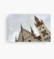 Marvelous Munich - Altes Rathaus Old Town Hall Against the Angry Sky Canvas Print