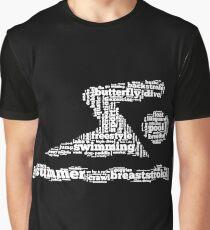 Swimming Words Shirt Graphic T-Shirt