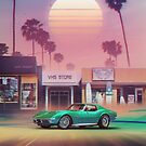 Synthwave Sunset Drive by dennybusyet