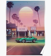 Retrowave Posters | Redbubble