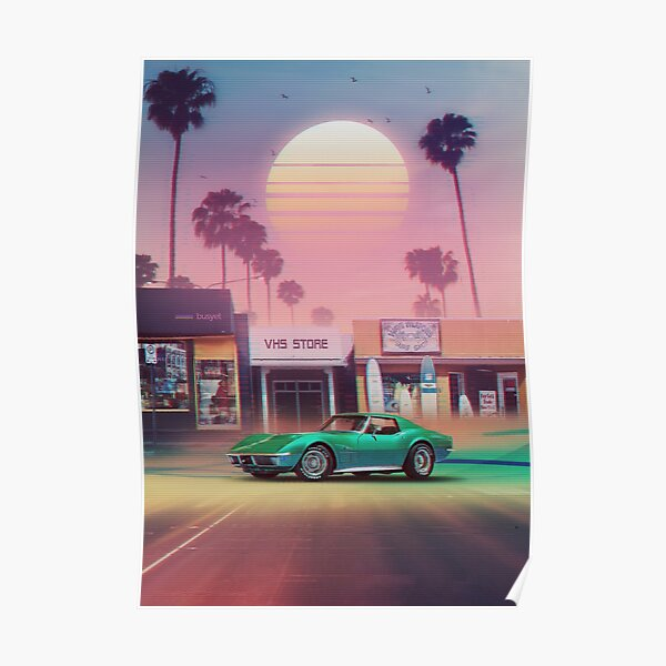 Synthwave Sunset Drive Poster