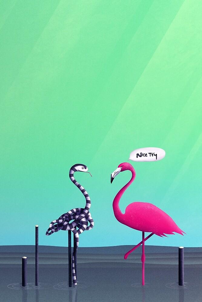 Nice Try, Flamingo!  von schwebewesen