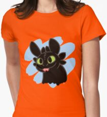 Toothless Bleep Womens Fitted T-Shirt