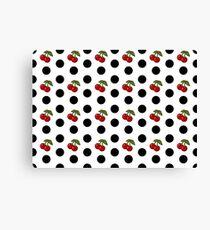 Polka Dots and Cherries  Canvas Print