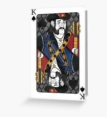 Lemmy - King of Spades - Tribute to Motorhead Greeting Card