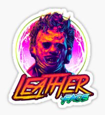 Leather Face Neon Sticker