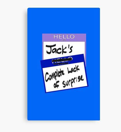"Fight Club: ""I AM JACK'S COMPLETE LACK OF SURPRISE"" Canvas Print"