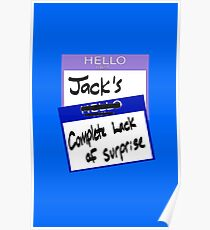 """Fight Club: """"I AM JACK'S COMPLETE LACK OF SURPRISE"""" Poster"""
