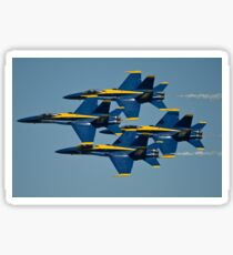 The U.S. Navy flight demonstration squadron, the Blue Angels. Sticker