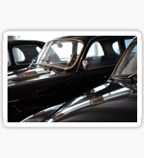 Three black classic cars Sticker