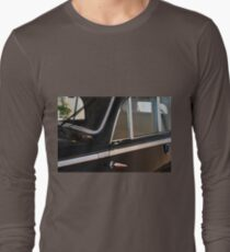 Side doors and windscreen of classic vintage black car Long Sleeve T-Shirt