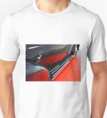 Detail of black shining car reflecting red carpet Unisex T-Shirt