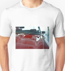 Front part detail of red vintage shining car Unisex T-Shirt