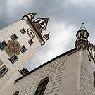 Marvelous Munich - Altes Rathaus Old Town Hall Against Ominous Clouds by Georgia Mizuleva
