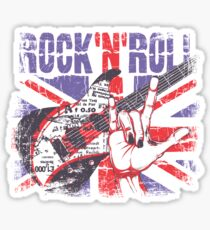 Rock n Roll Union Jack Sticker