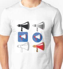 colorful illustration  with megaphone on white backgrounds Unisex T-Shirt