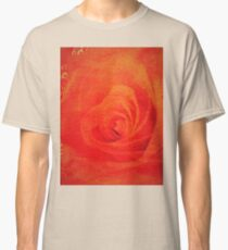 red rose and red and white  heart  Classic T-Shirt