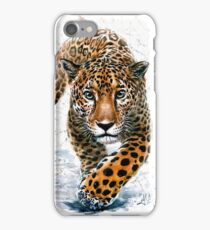 Jaguar leopard animals predator watercolor wild life kostart chita iPhone Case/Skin