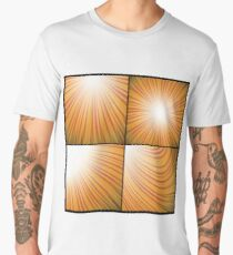 colorful illustration with abstract line backgrounds set Men's Premium T-Shirt