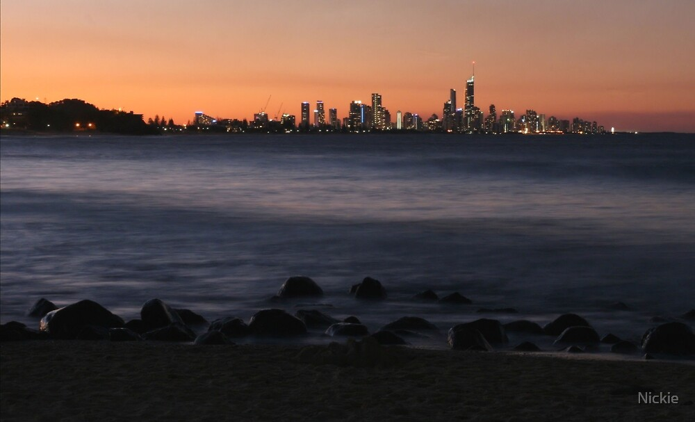Lights Of Surfers Paradise by Nickie