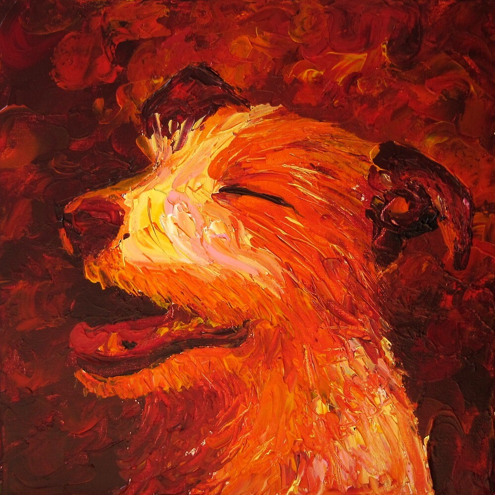Laughing Dog by Megan Proverbs