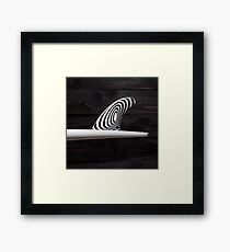 Single Fin Framed Print