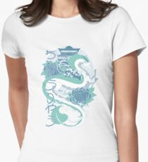 Dragon of the Blue River Womens Fitted T-Shirt
