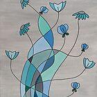 Flower Fusion Aqua by Gillian Cross