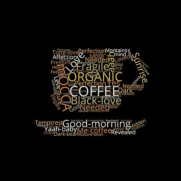 Coffee Wordcloud T-shirt by jeffreylr