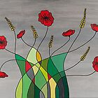 Flower Fusion Poppies by Gillian Cross